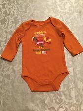 Girls Boys Size 3-6 mo. orange jumpsuit bodysuit outfit 1 piece Turkey football