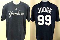 NWT New York Yankees #99 Aaron Judge Mens Sizes S-M-L-XL-2XL Blue Majestic Shirt