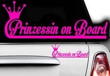 1x étiquette Princess nom désiré ON BOARD (à bord) Princesse Gueule de bois Baby