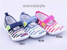 Girls Canvas Trainers Medium Width Baby Shoes