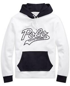 ***X-Large***Polo Ralph Lauren Men's Double-Knit Jacquard Hoody WHITE