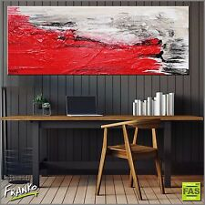Modern Abstract Art Painting Textured Canvas Red 160cm x 60cm Franko Australia