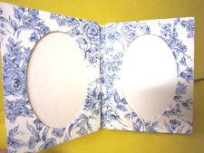 CADRE PHOTOS DOUBLE-Á POSER- format  10x15cm-Tissu romantique -FAIT MAIN - NEUF
