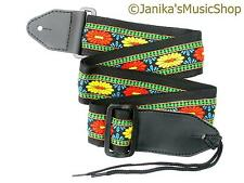 Blue green country rock folk guitar strap for electric or acoustic guitar 115E
