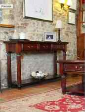 MAHOGANY CONSOLE TABLE WITH DRAWERS