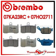 Pastiglie Freno BREMBO Ant RC + Post CC TRIUMPH STREET TRIPLE R 675 2009 2010 10