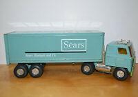 """Vintage ERTL SEARS ROEBUCK SEMI TRUCK Pressed Steel 1970s 22"""" Tractor Trailer"""