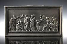 Schwarzes Thorvaldsen Relief um 1880 Ipsen Dänemark Terracotta Black Basalt