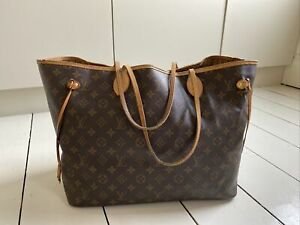 Louis Vuitton MM Neverfull Hand Bag Tote Monogram Genuine