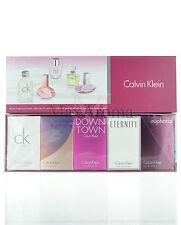Calvin Klein  Travel  Perfume Set 5 ml 0.17 oz New in Box for Women Splash