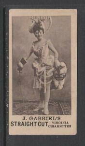 CIGARETTE CARDS Gabriel 1898 Pretty Girls 'BAGG' - #20 Celeste