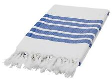 Swan Comfort Peshtemal Large Turkish Towel Beach CoverUp Cotton White Stripped