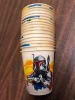 STAR WARS The Empire Strikes Back (1981) lot (16) 5 oz. Dixie cups Boba Fett etc