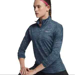 Nike Running Element Dri-Fit Half Zip Pullover Top Women's Size Large Space Dye
