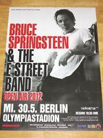 BRUCE SPRINGSTEEN KONZERT POSTER - 2012 IN BERLIN GERMANY OLYMPIASTADION - NEU