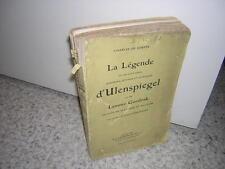 1912.légende d'Ulenspiegel & Goedzak / Charles de Coster.Flandres Belgique