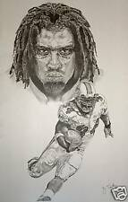 Ricky Williams poster picture print miami dolphins art