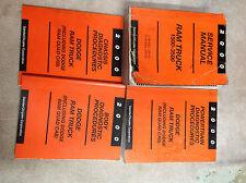 2000 Dodge Ram Truck 1500 2500 3500 Service Shop Repair Manual SET W DIAGNOSTICS