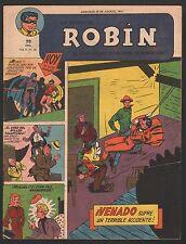 LA REVISTA DE ROBIN # 40 1951 - RARE Argentine Printed COMIC (Robin and Batman)