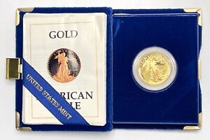1987 American Gold Eagle One-Half 1/2 Ounce Oz $25 Twenty Five Dollar Proof Coin
