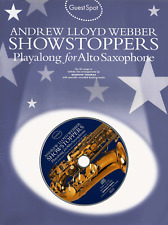 ANDREW LLOYD WEBBER SHOWS Alto Sax Saxophone Sheet Music Book & CD Saxaphone