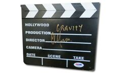 Alfonso Cuaron Autographed Mini Movie Clapper Gravity Director PSA AE83522