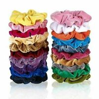 Girls Velvet Scrunchies Hair Ring Elastic Stretch Hair tie Ponytail Holder UK rr