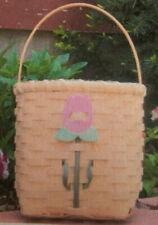 Basket Weaving Pattern Tulip Basket by Maurine Joy
