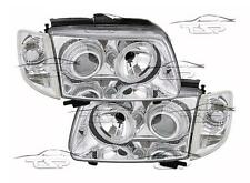 HEADLIGHTS CHROME ANGEL EYES FOR VW POLO 6N 99-01 NEW LAMPS FARI