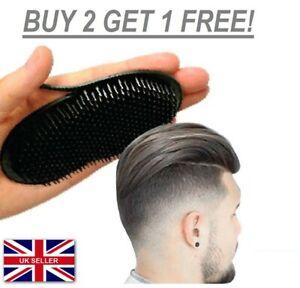 HAND POCKET COMB BRUSH HAIR MEN BEARD MUSTACHE PALM TRAVEL SCALP MASSAGER UK**
