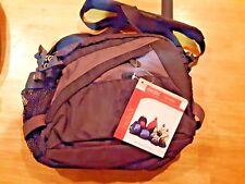 ameribag Helixx vortex shoulder bag waist pack black/gray