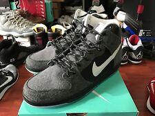 Nike Dunk High SB PREMIER PETOSKEY sz 8 CHARCOAL GREY WHITE BLACK 645986-010