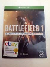 Battlefield 1: Early Enlister Deluxe Edition Xbox One 1 Download Card Code