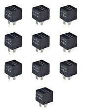 10 Pcs Bosch Style 4 PIN Blade Post Relays SPST 80 Ohm NO:40A/14VDC NC:30A/14VDC