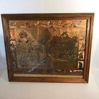 World Map Moses Pitt Nova 1681Gold Foil Totius Terrarum Orbis Geographica Nudes