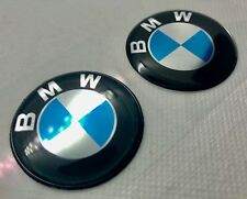 2 pcs. BMW logo 3D Domed Sticker. 40 mm