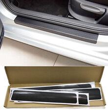 4x 4D Carbon Fiber Protector Sill Scuff Cover Car Door Plate Sticker + Tools