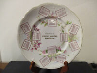 1906 Souvenir Calendar Plate Confers Varieties Hamburg Pennsylvania