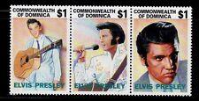SELLOS TEMA MUSICA. DOMINICA 1992 1483/85 ELVIS PRESLEY 3v.