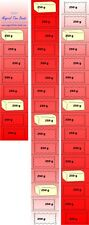 Massband-Zeitband-Kalender  Abnehmen für 10 Kilo  zum abschneiden