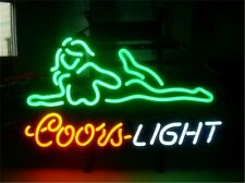 """COORS LIGHT NUDE GIRL NEON LIGHT SIGN Display STORE BEER BAR CLUB Signage 17x14"""""""
