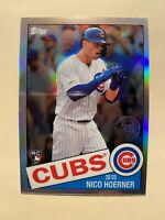 2020 Topps Chrome Nico Hoerner 1985 Refractor Insert Rookie Card - MINT! RARE!!