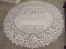 New White lace Last Supper design Tablecloth