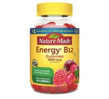 Nature Made Energy B12 1000 mcg Gummies, 80 Count Size - Cherry & Mixed Berry