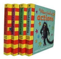 Wilbur Cat 4 Books Feelings Action Valerie Thomas Fun Learning Board Nursery New