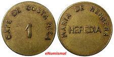 Cafe De Costa Rica Jose Maria De Herrera, Heredia 1 (Cajuela) 1897S Token 25,7mm