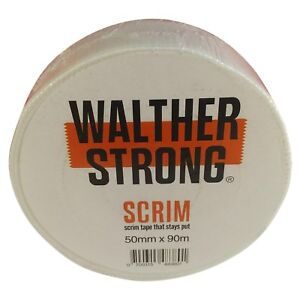 Walther Strong Scrim Tape - 50mm x 90m Plasterboard Joint & Crack Repair Tape