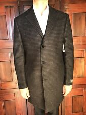 Mens Nordstrom Dark Gray Houndstooth Overcoat Size M New $595