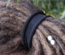Large Dreadlock Elastics | Strong Dread Hair Ties Bands | Set Of 2 | Black Brown