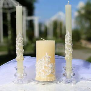 Ivory Wedding Unity Candle Set